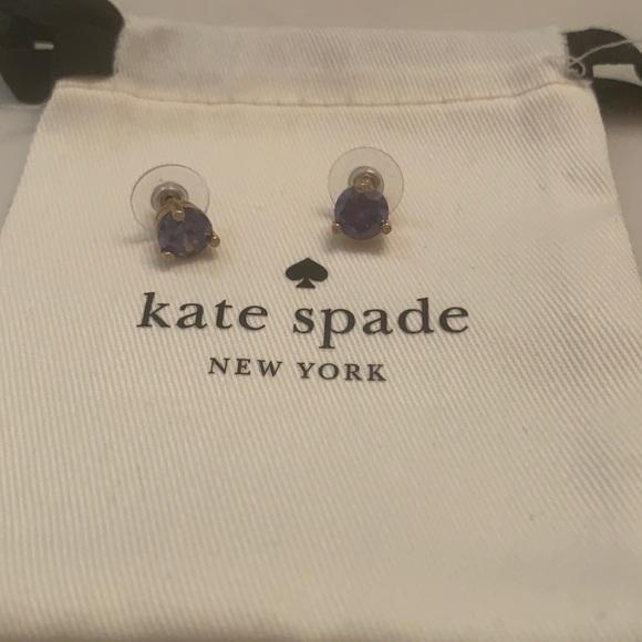 Kate Spade purple stone earrings